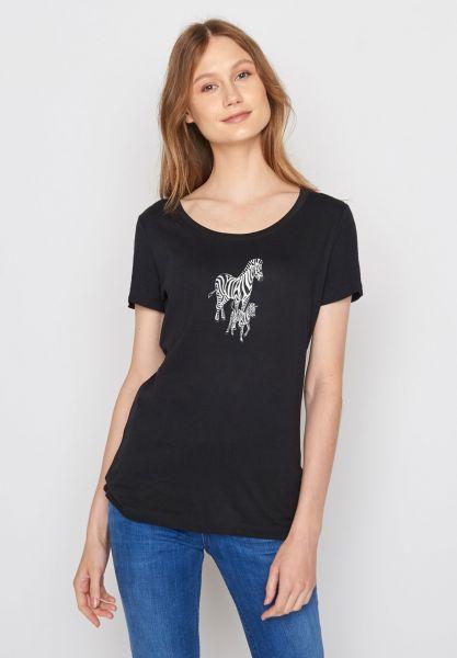 GREENBOMB - ANIMAL ZEBRAS Shirt black