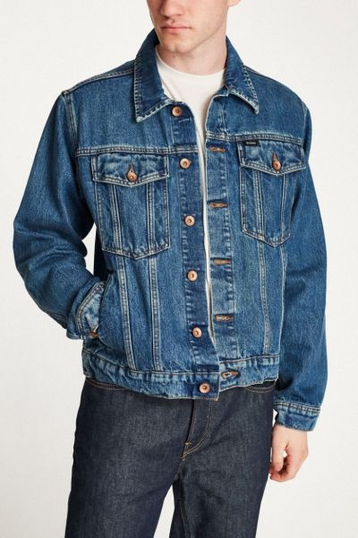 BRIXTON - CABLE DENIM JACKET Jeansjacke worn indigo