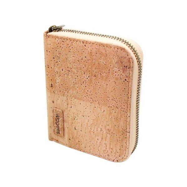 VEGGEES - MINI NATURELL RFID BLOCK Kork Portemonnaie