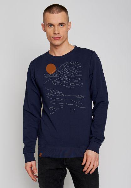 GREENBOMB - NATURE SUNSET wild Sweater navy