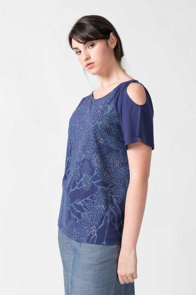 SKFK - NELA T-Shirt B8 dark blue