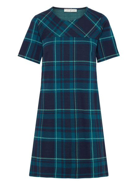 MADEMOISELLE YEYE - BECAUSE MAYBE Dress Kleid tartan blue green