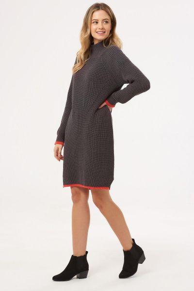 SUGARHILL BRIGHTON - ELLEN CHUNKY KNIT DRESS Dress charcoal
