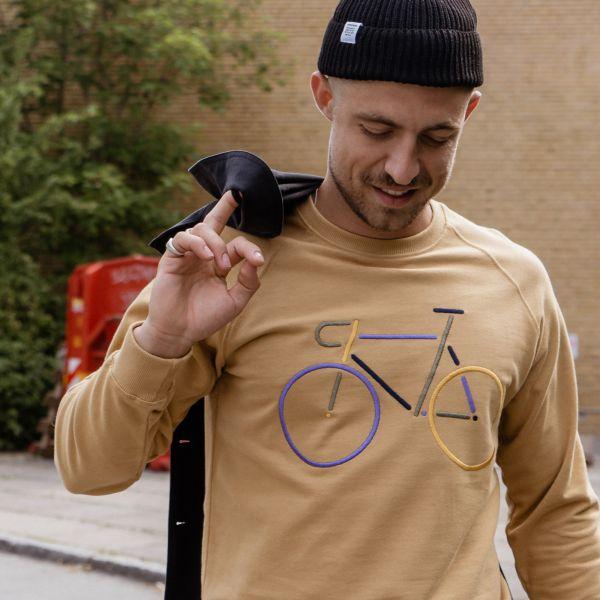 DEDICATED - COLOR BIKE Sweatshirt beige