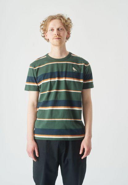 CLEPTOMANICX - OLDSCHOOL TEE COASTING T-Shirt scarab green