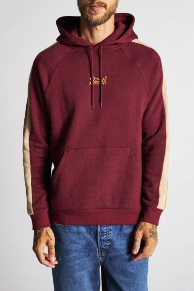 BRIXTON - STITH VI HOOD IV Hooded Sweater Pullover maroon