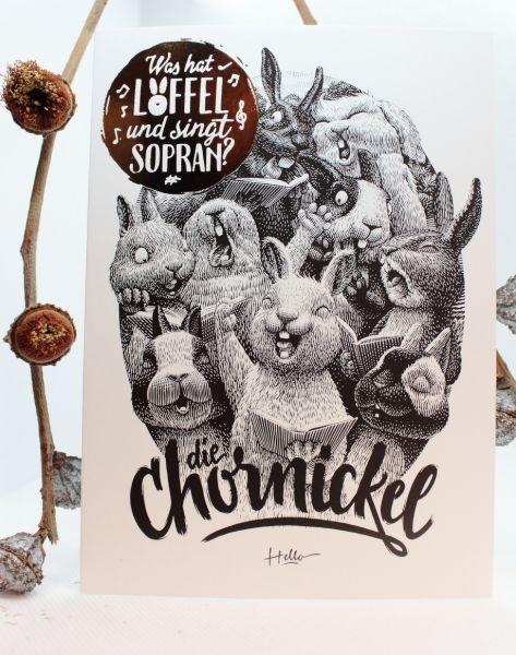 HELLOGEROWSKY - CHORNICKEL Postkarte Art Print