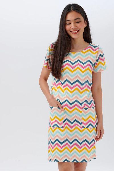 SUGARHILL BRIGHTON - ARIANE JERSEY TUNIC DRESS Kleid multi rio-chevron