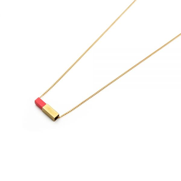 POTIPOTI - RAINBOW NECKLACE RED Halskette