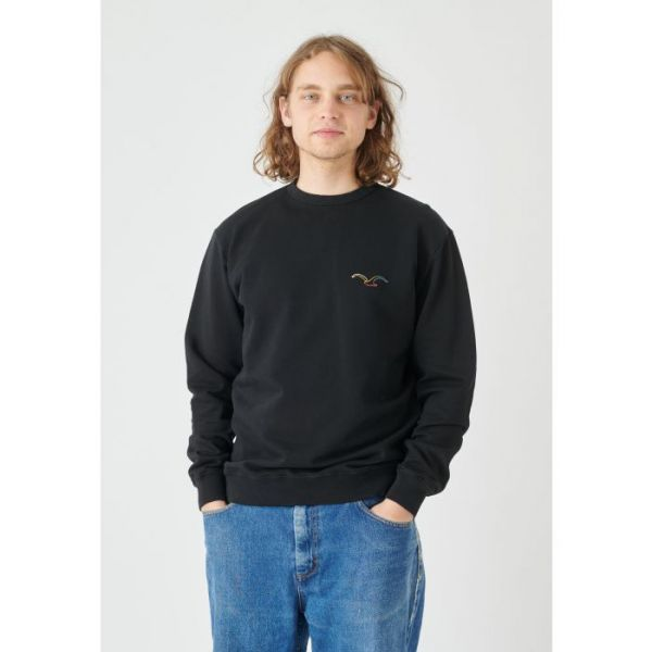 CLEPTOMANICX - MOWE COLOR Sweatshirt Crewneck black
