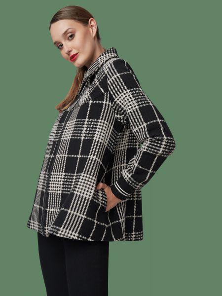 MADEMOISELLE YEYE - GRAND AMOUR Jacke tartan black/white