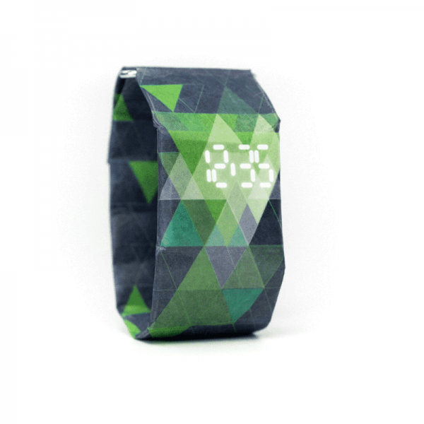 PAPRCUTS WATCH TRIANGLES blue/green - Armbanduhr aus Papier
