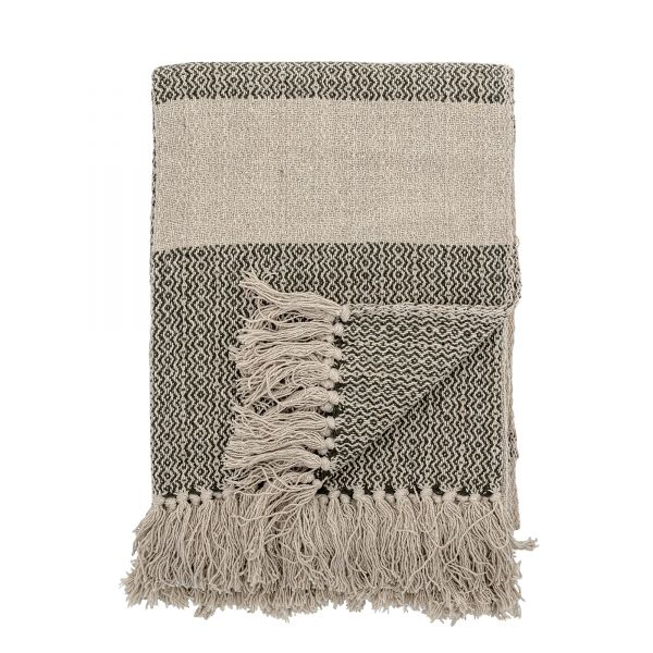 BLOOMINGVILLE - FIDAN THROW Recycled Cotton green