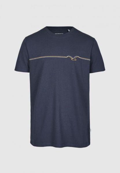CLEPTOMANICX - MÖWE PUFFLINES Shirt dark navy