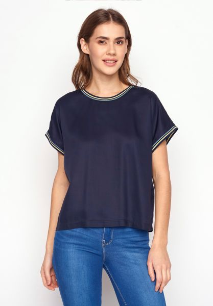 GREENBOMB - CHOICE Blouse T-Shirt navy