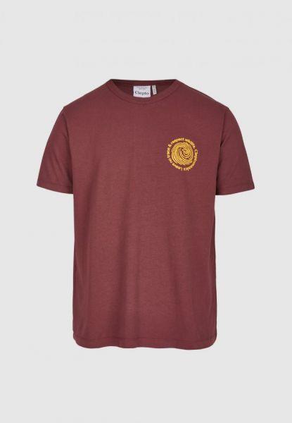 CLEPTOMANICX - FINGERPRINTS TEE Shirt port royal