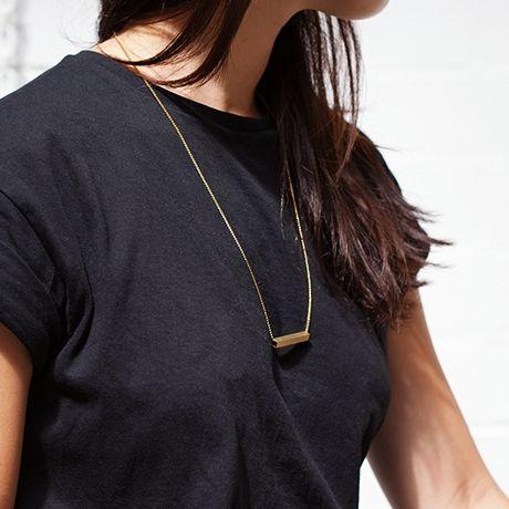 POTIPOTI - GEOMETRIC 4  BLACK Halskette