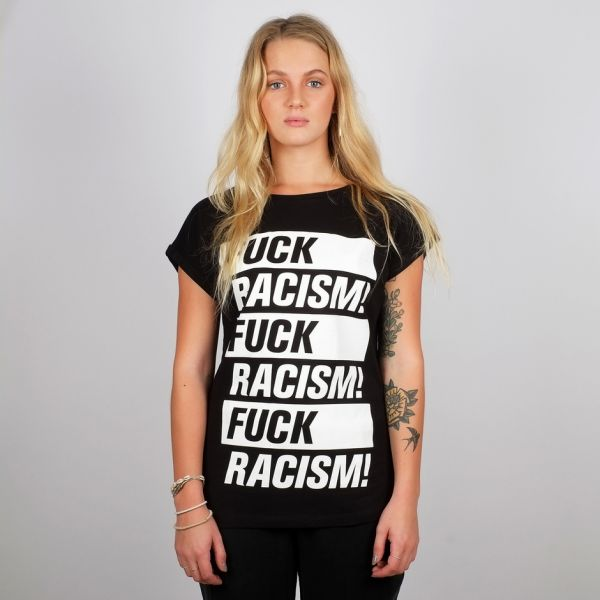 DEDICATED - FUCK RACISM  T-shirt Visby black