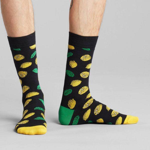 DEDICATED - SIGTUNA SOCKS LEMONS Socken black 41- 45