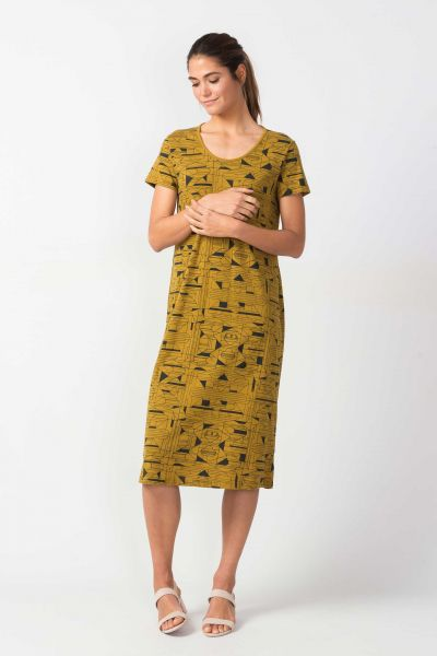 SKFK - SANTZIA DRESS Kleid mustard