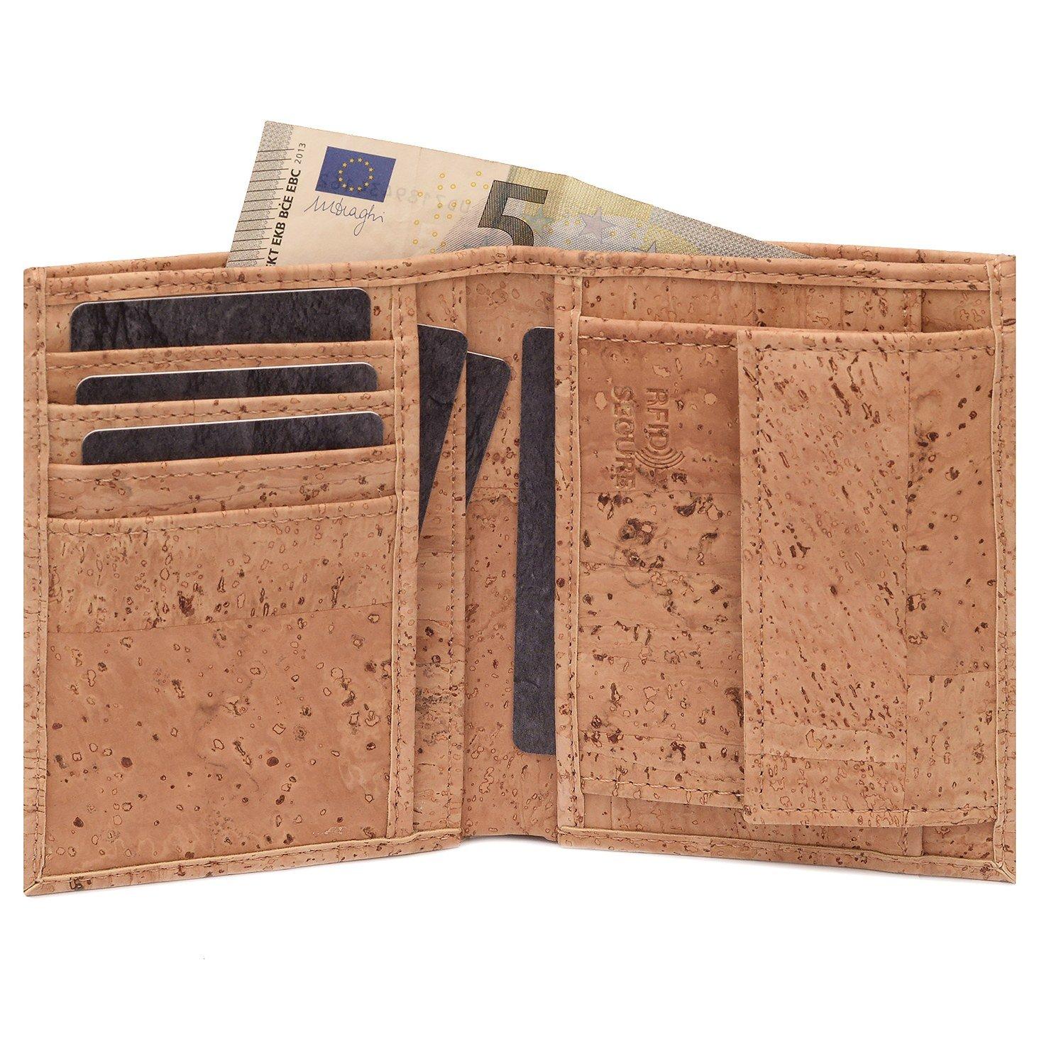 SIMARU-KAZUHIKO-RFID-BLOCK-Kork-Portemonnaie