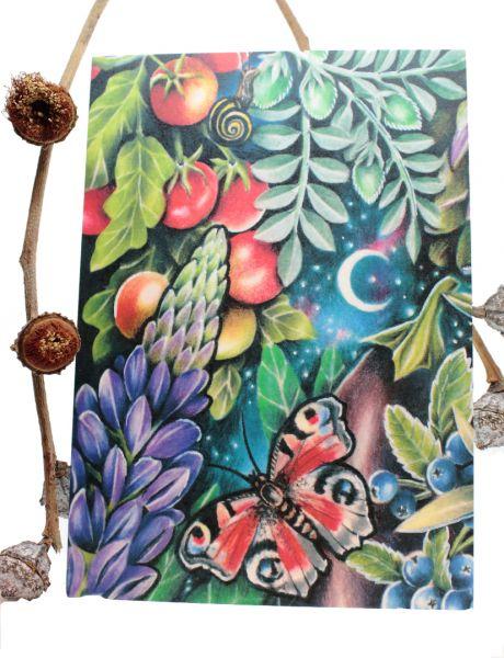 JESSICA MACH - VEGGIE UNIVERSE BUTTERFLY Art Print Postkarte von Jessica Mach