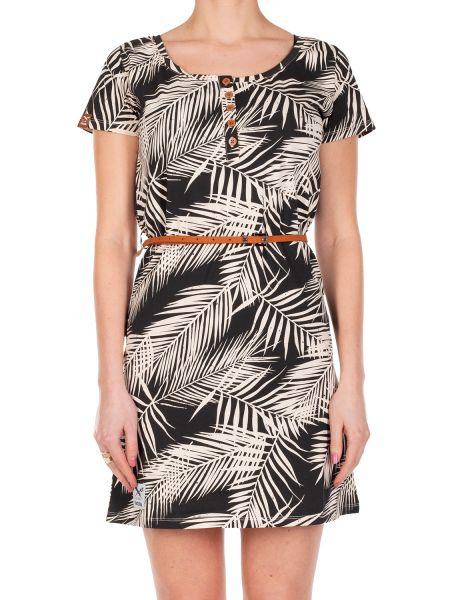 IRIE DAILY - LA PALMA DRESS Kleid black