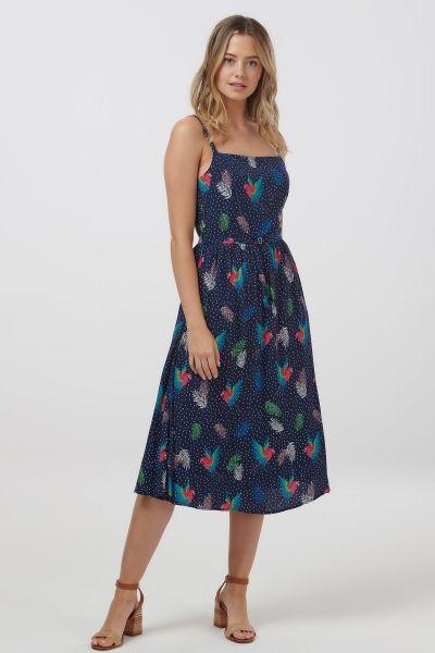 SUGARHILL BRIGHTON - TALLULAH PARADISE PARROT SUNDRESS Kleid blue multi