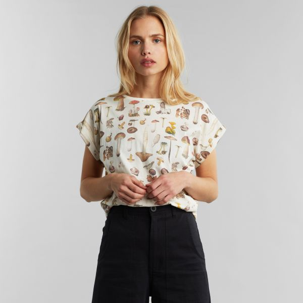 DEDICATED - MUSHROOMS VISBY T-Shirt off-white