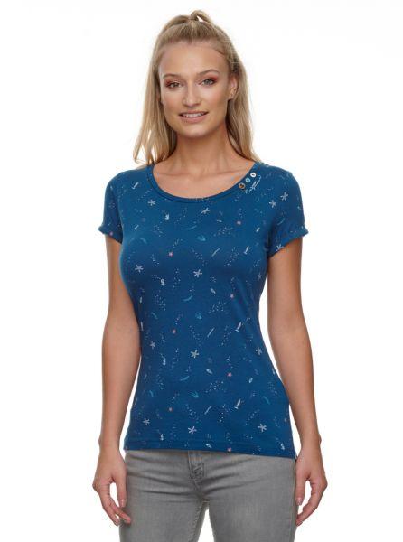 RAGWEAR - FLORAH B ORGANIC T-Shirt petrol