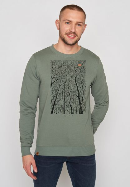 GREENBOMB - NATURE FOREST PEEP WILD Sweater olive