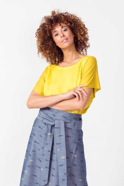 SKFK - DELA SKIRT Rock Y5 brush print denim