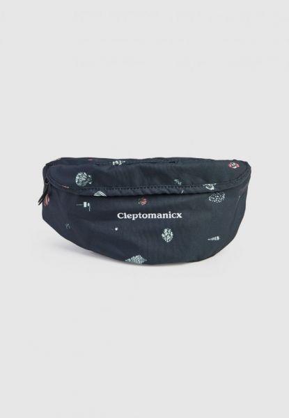 CLEPTOMANICX - MEGA PATTERN HIPBAG - Tasche black