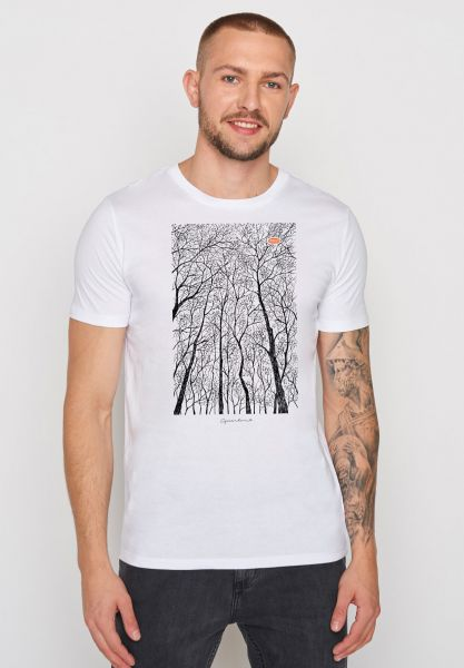 GREENBOMB - NATURE FOREST PEEP Guide T-Shirt white