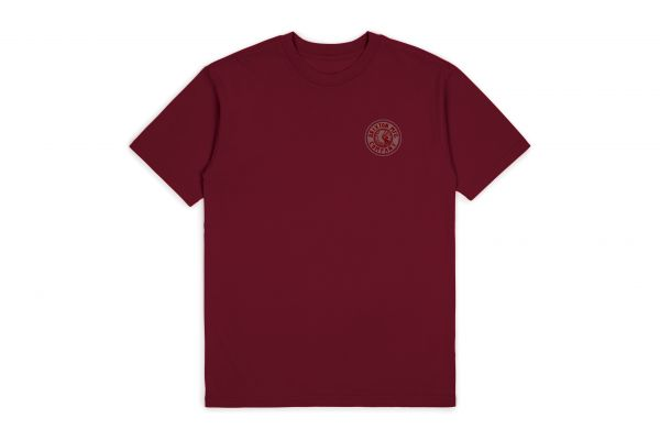 BRIXTON - RIVAL II S/S STND TEE Shirt burgundy/grey