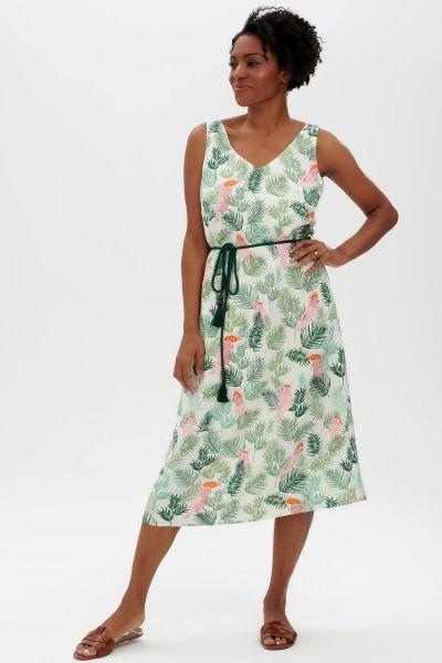 SUGARHILL BRIGHTON - FREDERIKA MIDI SLIP DRESS Kleid cream cockatoo