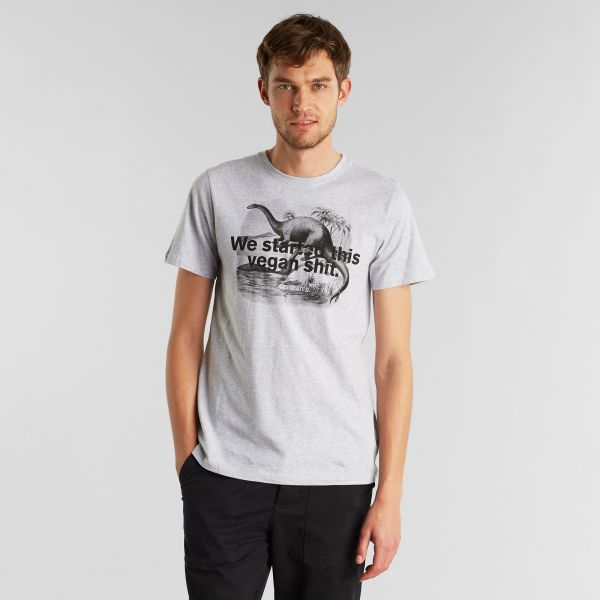 DEDICATED - VEGAN DINO Stockholm Shirt grey melange