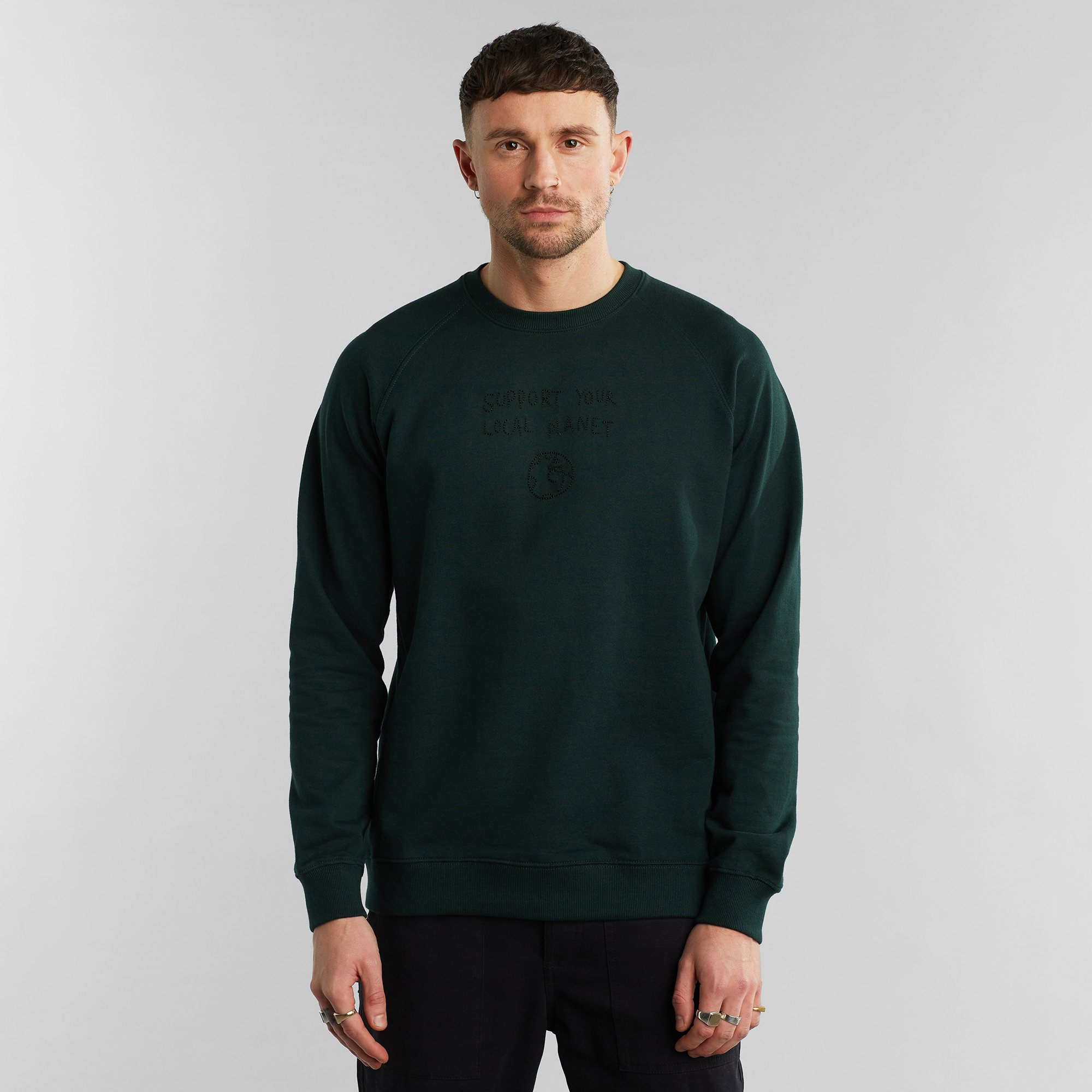 DEDICATED-MALMOE-SUPPORT-YOUR-LOCAL-PLANET-Sweatshirt-dark-green-pine-grove