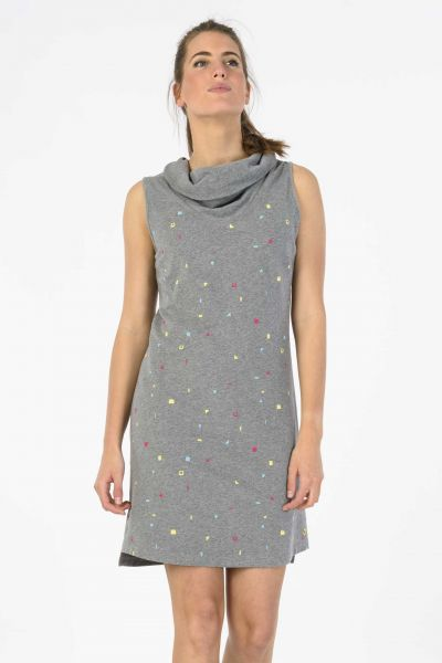 SKUNKFUNK - LACY Kleid grey