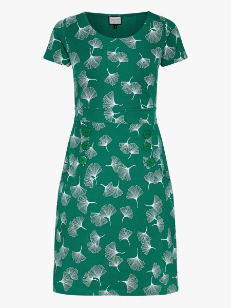 MADEMOISELLE YEYE - OH MY LOLA Dress ginko leaves