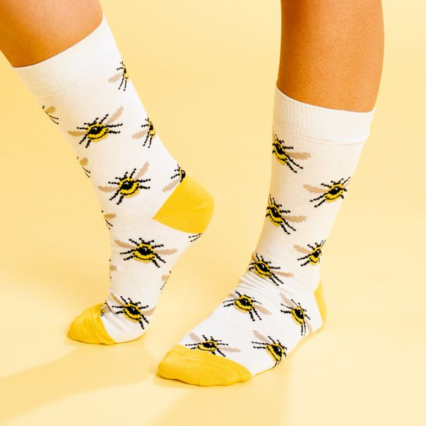 DEDICATED - SOCKS SIGTUNA BUMBLEBEES Damensocken white