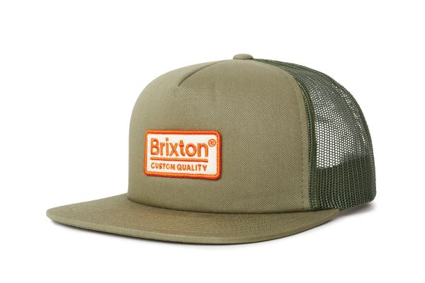 BRIXTON - PALMER MESHCAP olive