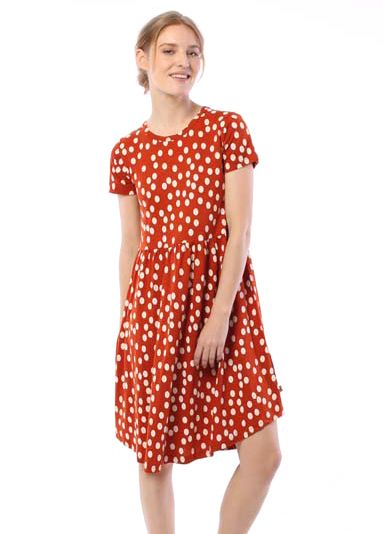 DANEFAE - NIELSEN DRESS Kleid sienna/chalk- big funny dots