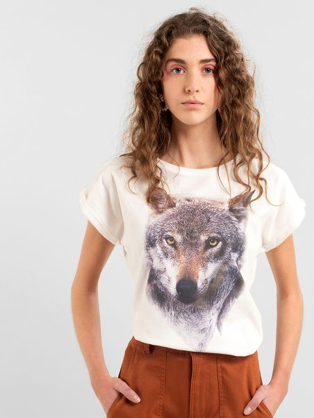 DEDICATED - MOUNTAIN WOLF VISBY T-Shirt off-white