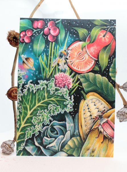 JESSICA MACH - VEGGIE UNIVERSE MAIKÄFER Art Print Postkarte von Jessica Mach