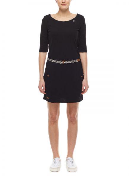 RAGWEAR - TANYA SOLID Dress Kleid black