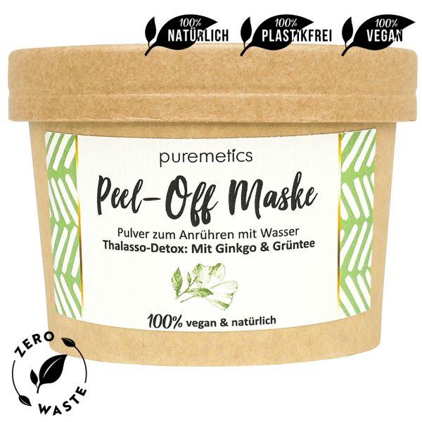 Puremetics - Peel-Off Maske 'Detox: Ginkgo-Grüntee'