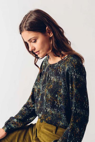 SKFK - ADIRANE Shirt 2N floral black