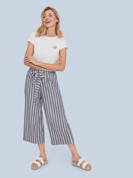 MADEMOISELLE YEYE - A NEW IDEA Trousers Hose stay gold blue/ gold