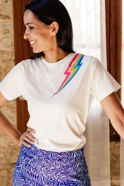 SUGARHILL BRIGHTON - MAGGIE T-Shirt off-white colour flash